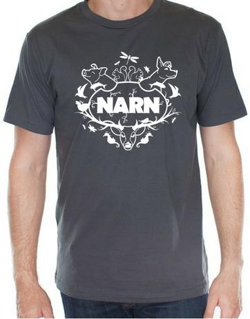 Narn t-shirt slate grey